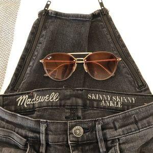 Madwell Skinny Skinny (zipper) Ankle Jeans